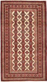 Turkaman Patina Teppe 110X192 Ekte Orientalsk Håndknyttet Mørk Rød/Beige (Ull, Persia/Iran)