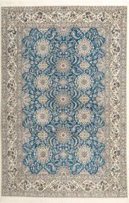 Nain 6La Habibian Teppe 210X323 Ekte Orientalsk Håndknyttet Lys Grå/Mørk Beige (Ull/Silke, Persia/Iran)