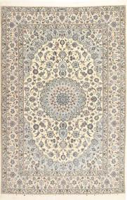 Nain 6La Habibian Teppe 207X314 Ekte Orientalsk Håndknyttet Lys Grå/Beige/Mørk Beige (Ull/Silke, Persia/Iran)