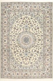 Nain 6La Habibian Teppe 207X307 Ekte Orientalsk Håndknyttet Lys Grå/Hvit/Creme (Ull/Silke, Persia/Iran)