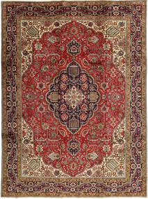 Tabriz Teppe 245X327 Ekte Orientalsk Håndknyttet Mørk Brun/Mørk Rød (Ull, Persia/Iran)