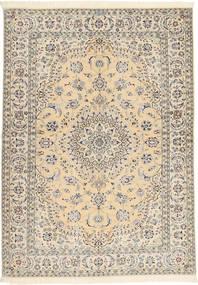 Nain 6La Habibian Teppe 145X207 Ekte Orientalsk Håndknyttet Beige/Lys Grå (Ull/Silke, Persia/Iran)
