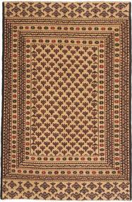 Kelim Golbarjasta Teppe 126X190 Ekte Orientalsk Håndvevd Mørk Beige/Mørk Brun (Ull, Afghanistan)