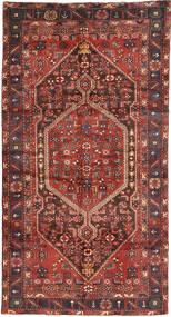 Hamadan Teppe 140X266 Ekte Orientalsk Håndknyttet Mørk Rød/Mørk Brun (Ull, Persia/Iran)