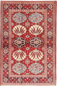 Keshan Teppe 130X197 Ekte Orientalsk Håndknyttet Mørk Rød/Rust (Ull, Persia/Iran)
