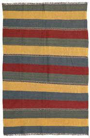 Kelim Teppe 132X198 Ekte Orientalsk Håndvevd Blå/Mørk Rød (Ull, Persia/Iran)