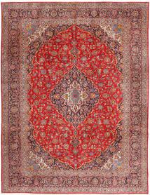 Keshan Teppe 315X420 Ekte Orientalsk Håndknyttet Mørk Rød/Rust Stort (Ull, Persia/Iran)