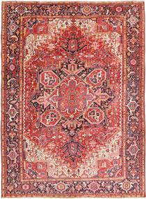 Heriz Teppe 260X354 Ekte Orientalsk Håndknyttet Rust/Mørk Brun Stort (Ull, Persia/Iran)