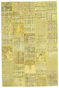 Patchwork Teppe 200X301 Ekte Moderne Håndknyttet Gul/Olivengrønn (Ull, Tyrkia)