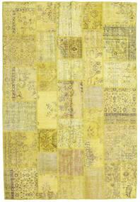 Patchwork Teppe 203X299 Ekte Moderne Håndknyttet Gul/Olivengrønn (Ull, Tyrkia)