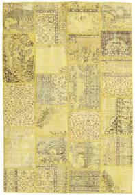 Patchwork Teppe 159X236 Ekte Moderne Håndknyttet Gul/Olivengrønn (Ull, Tyrkia)