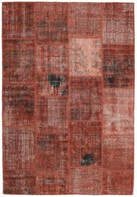 Patchwork Teppe 159X232 Ekte Moderne Håndknyttet Mørk Rød/Lysbrun (Ull, Tyrkia)