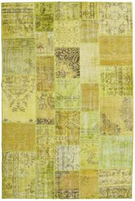 Patchwork Teppe 199X301 Ekte Moderne Håndknyttet Gul/Olivengrønn (Ull, Tyrkia)
