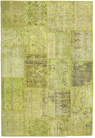 Patchwork Teppe 157X233 Ekte Moderne Håndknyttet Olivengrønn/Gul/Lysgrønn (Ull, Tyrkia)