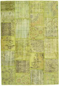 Patchwork Teppe 158X231 Ekte Moderne Håndknyttet Lysgrønn/Olivengrønn (Ull, Tyrkia)