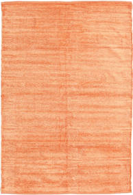 Kelim Chenille - Fersken_Oransje Teppe 120X180 Ekte Orientalsk Håndvevd Mørk Beige/Orange ( India)