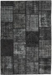 Patchwork Teppe 159X232 Ekte Moderne Håndknyttet Mørk Grå/Mørk Grønn (Ull, Tyrkia)