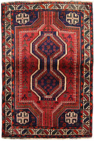 Shiraz Teppe 111X162 Ekte Orientalsk Håndknyttet Mørk Rød/Svart (Ull, Persia/Iran)