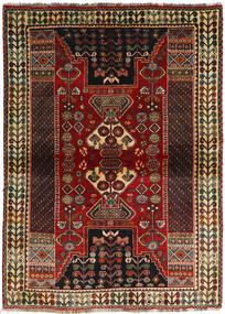 Ghashghai Teppe 115X160 Ekte Orientalsk Håndknyttet Mørk Brun/Mørk Rød (Ull, Persia/Iran)