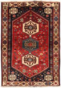 Ghashghai Teppe 108X150 Ekte Orientalsk Håndknyttet Mørk Rød/Svart (Ull, Persia/Iran)