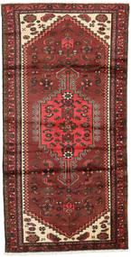 Hamadan Teppe 95X187 Ekte Orientalsk Håndknyttet Mørk Rød/Rust (Ull, Persia/Iran)