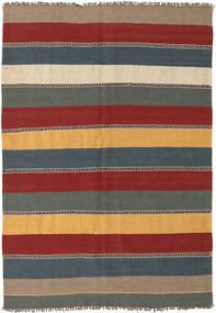 Kelim Teppe 135X197 Ekte Orientalsk Håndvevd Mørk Rød/Blå (Ull, Persia/Iran)