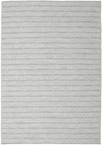 Kelim Long Stitch - Grå Teppe 240X340 Ekte Moderne Håndvevd Lys Grå/Turkis Blå (Ull, India)