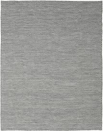 Kelim Honey Comb - Svart/Grå Teppe 240X300 Ekte Moderne Håndvevd Lys Grå/Turkis Blå (Ull, India)