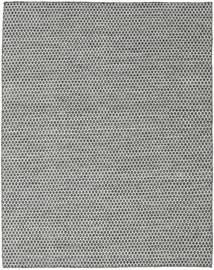 Kelim Honey Comb - Svart/Grå Teppe 190X240 Ekte Moderne Håndvevd Lys Grå/Mørk Grå (Ull, India)