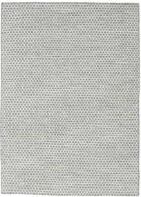 Kelim Honey Comb - Grå Teppe 140X200 Ekte Moderne Håndvevd Lys Grå/Turkis Blå (Ull, India)