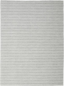 Kelim Long Stitch - Grå Teppe 290X390 Ekte Moderne Håndvevd Lys Grå/Turkis Blå Stort (Ull, India)