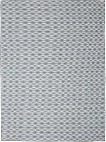 Kelim Long Stitch - Blå Teppe 290X390 Ekte Moderne Håndvevd Lys Grå/Lys Blå Stort (Ull, India)