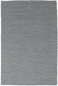 Kelim Honey Comb - Blå Teppe 120X180 Ekte Moderne Håndvevd Blå/Mørk Grå (Ull, India)