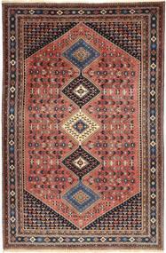 Yalameh Teppe 203X310 Ekte Orientalsk Håndknyttet Mørk Rød/Mørk Brun (Ull, Persia/Iran)