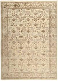 Tabriz Royal Teppe 301X420 Ekte Orientalsk Håndknyttet Beige/Lysbrun/Mørk Beige Stort ( India)