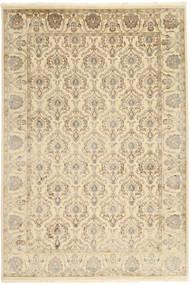 Tabriz Royal Teppe 184X271 Ekte Orientalsk Håndknyttet Beige/Mørk Beige ( India)
