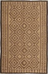 Kelim Teppe 160X246 Ekte Orientalsk Håndvevd Brun/Lysbrun (Ull, Persia/Iran)