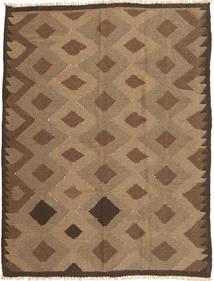 Kelim Teppe 143X191 Ekte Orientalsk Håndvevd Brun/Lysbrun (Ull, Persia/Iran)