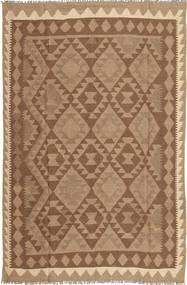 Kelim Teppe 158X244 Ekte Orientalsk Håndvevd Brun/Lysbrun (Ull, Persia/Iran)