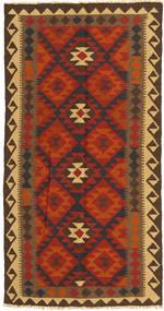 Kelim Maimane Teppe 99X194 Ekte Orientalsk Håndvevd Rust/Mørk Brun (Ull, Afghanistan)