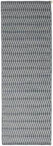 Kelim Long Stitch - Blå Teppe 80X240 Ekte Moderne Håndvevd Teppeløpere Lys Grå/Blå (Ull, India)