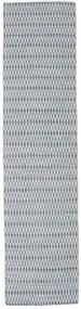 Kelim Long Stitch - Blå Teppe 80X340 Ekte Moderne Håndvevd Teppeløpere Lys Grå/Lys Blå (Ull, India)