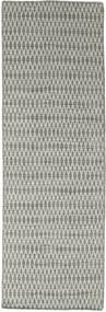 Kelim Long Stitch - Grå Teppe 80X240 Ekte Moderne Håndvevd Teppeløpere Lys Grå/Mørk Grå (Ull, India)