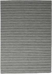 Kelim Long Stitch - Svart/Grå Teppe 240X340 Ekte Moderne Håndvevd Lys Grå/Mørk Grå (Ull, India)