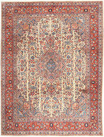 Sarough Teppe 294X390 Ekte Orientalsk Håndknyttet Brun/Lysbrun Stort (Ull, Persia/Iran)