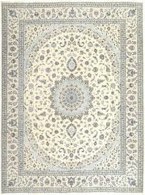 Nain 6La Teppe 305X400 Ekte Orientalsk Håndknyttet Beige/Lys Grå Stort (Ull/Silke, Persia/Iran)