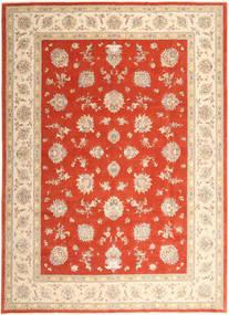 Tabriz 50 Raj Med Silke Teppe 296X403 Ekte Orientalsk Håndknyttet Beige/Rust/Rød Stort (Ull/Silke, Persia/Iran)