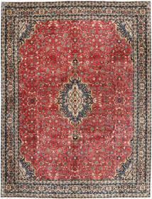 Bidjar Med Silke Teppe 297X385 Ekte Orientalsk Håndknyttet Mørk Rød/Mørk Grå Stort (Ull/Silke, Persia/Iran)