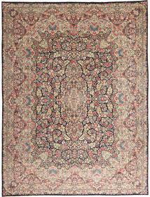 Kerman Teppe 290X387 Ekte Orientalsk Håndknyttet Lys Grå/Mørk Brun Stort (Ull, Persia/Iran)