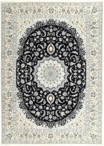 Nain 6La Teppe 250X340 Ekte Orientalsk Håndknyttet Lys Grå/Beige Stort (Ull/Silke, Persia/Iran)